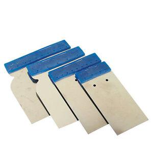 kit 4 spatules japonaise acier couteau mastic enduits peinture auto app ebay. Black Bedroom Furniture Sets. Home Design Ideas