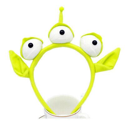 Halloween Alien Hair (Alien Cosplay Hairband Three Eyes Hair Hoop Halloween Party  Accessory Prop)
