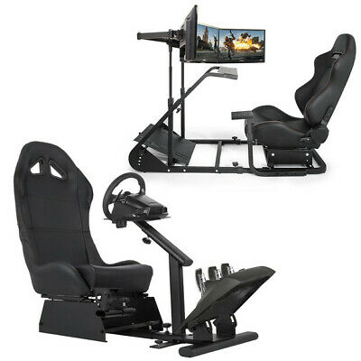 Racing Simulator Cockpit Gaming Chair W/ Stand for Logitech G920 G29 T500RS