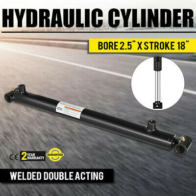 Hydraulic Cylinder 2.5 Bore 18 Stroke Double Acting Application Welded Steel