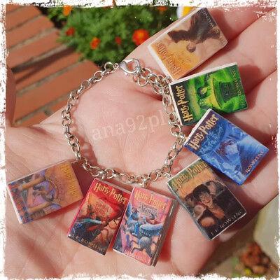 Harry Potter miniatures Book Pendant Charms Bracelet 7 Books CLAY GIFT HANDMADE