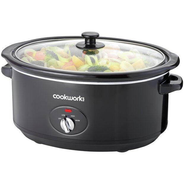 Cookworks 6.5L Slow Cooker - Black (new other)