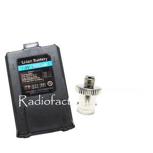 Adpator-SMA-female-to-BNC-female-S002K-Dual-Band-UV-5R-Battery7-4V-1800Mah