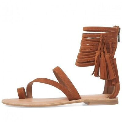 NEW Womens JEFFREY CAMPBELL GLADY BROWN LEATHER GLADIATOR SANDALS SHOES 9/40 !!!