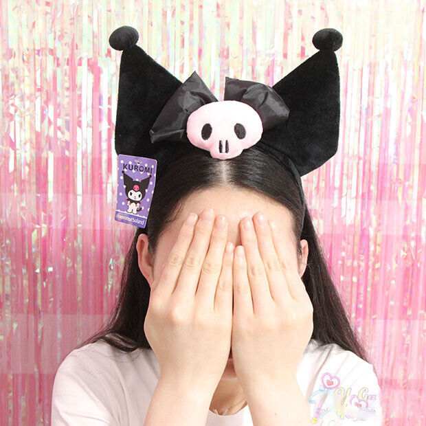 Cute Kuromi Ear Headband Plush Hairband Party Costume Cosplay Gift