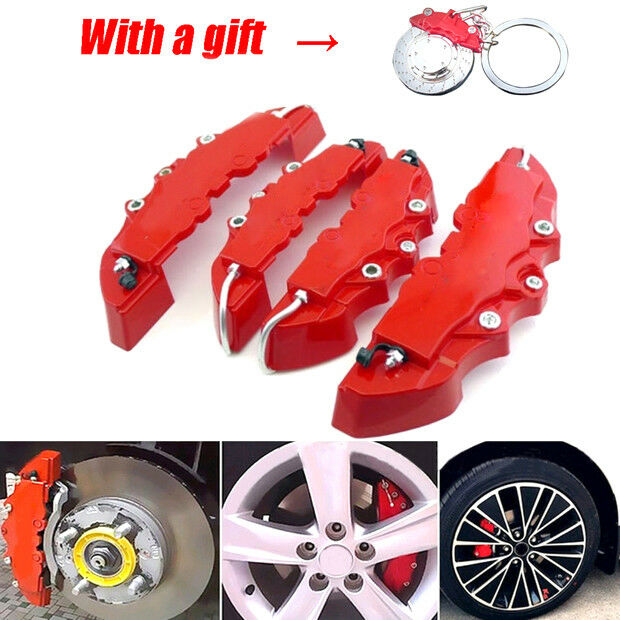 2Pair*3D Style Red Car Disc Brake Caliper Covers Rear /& Front Universal