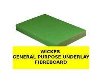 Green UNDERLAY Fibreboard - Wickes General Purpose - PACK of 14 SHEETS