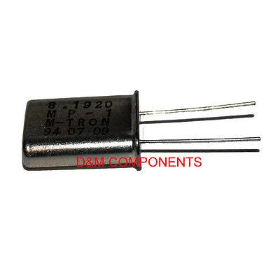 M TRON 8.192MHz Quartz Crystal Resonator, MP-1, HC-49/U