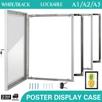 A3/ A2/ A1 lockable poster frame aluminum menu outdoor display cabinet logo - Outdoor Poster Frame