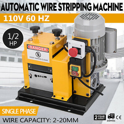 Portable Powered Electric Wire Stripping Machine Comercial 370w Cable Stripper