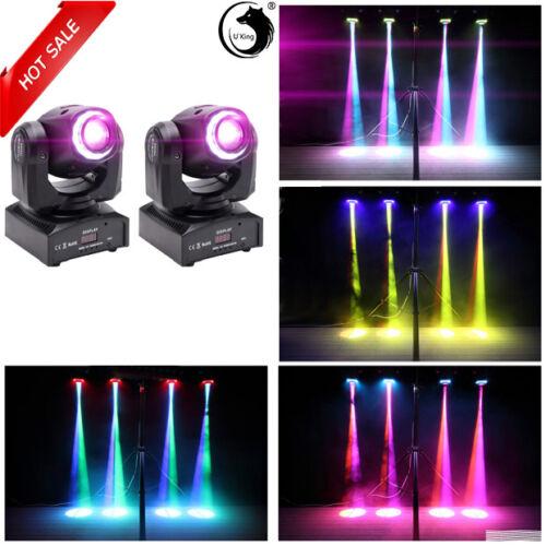 2PCS RGBW Bühnenbeleuchtung Moving Head Light LED Spot Gobo Magical Circle DMX