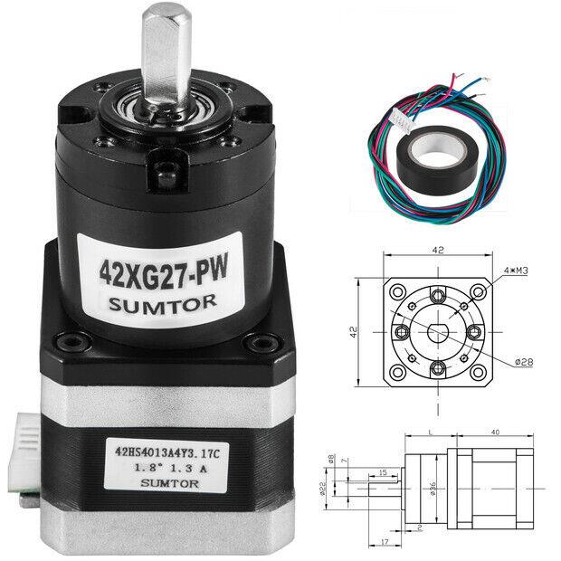 Planetary Gearbox Stepper Speed Reducer Gear Head for Nema 17 Motor CNC