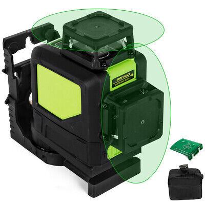 Rotary Laser Level Kit Self-leveling 8 Line Green Beam 98 Range 3d Cross 360