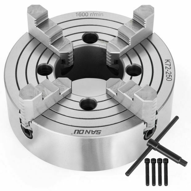 "Lathe Chuck 6""/8""/10"" 4-Jaw Independent & Reversible K72"