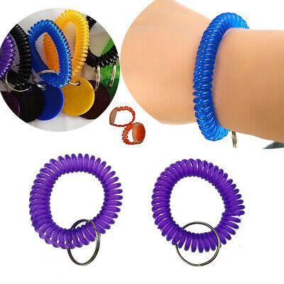10Pcs Stretch Coil Spiral Bracelet Key Chain Key Ring Retractable - Spiral Keychain Bracelet