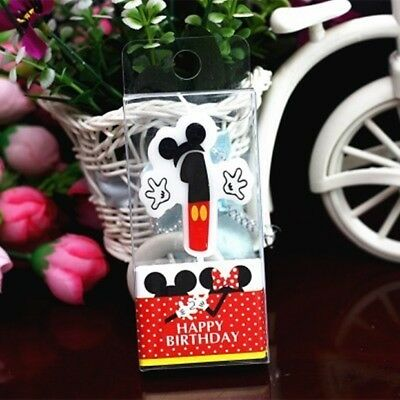 Mickey Mouse First Birthday Candle / Keepsake Topper  1-1/2