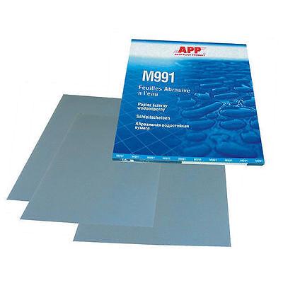 8 feuilles grain 3000 de papier abrasif pour poncer à l'eau  format 230 x 280mm