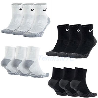 NIKE Dry Cushion Quarter Socks Tennis Training Basketball Unisex Large  Cushion Tennis Quarter Socks