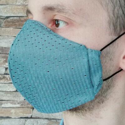 Gr M Coolmax® Mesh Arbeitsmaske 8-Stunden Mundschutz Gesichtsmaske grau schwarz