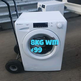 Candy 8kg washing machine free delivery in Nottingham