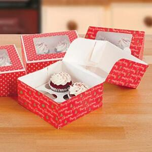 cupcake boxes - set of 4