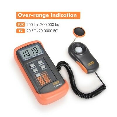 200000lux Digital Light Meter Ambient Temperature Measurer Illuminance Luxmeter