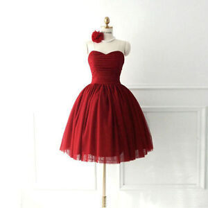 Short, Red Prom dress size 6-10 corsette