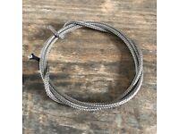 ca 7,5 Meter Allparts Vintage TOP Kabel silberummantelt braided shield wire 25ft