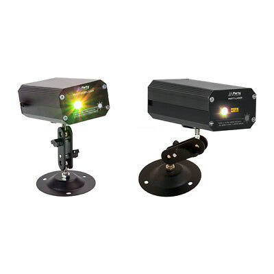 Party Light and Sound Mini Firefly Laser Effect Bundle Green Red DJ Lighting