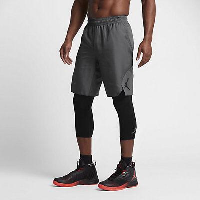 Nike Jordan Ultimate Flight Shorts Max Gray Black Flex Woven 831348  Large