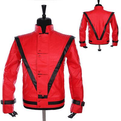 Michael Jackson Jacket Thriller MTV Jacke Rot  XS--XXL oder maßschneid MJFans005 ()