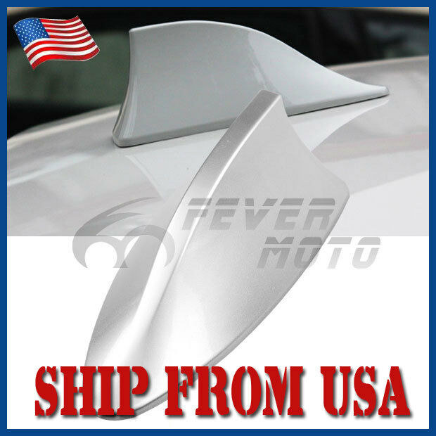 US Car Silver Roof Top Radio FM/AM Shark Fin Antenna Aerial Signal