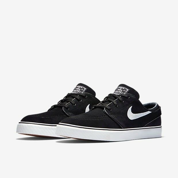 Nike SB Zoom Stefan Janoski Canvas Black   White Swoosh Skate Trainers -  UK9.5   EU44.5 ExcellentCon 95b1b559b