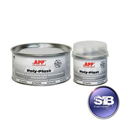 Masilla de Aluminio Aluminio Poly Plast Incl. más Difícil 1,8kg