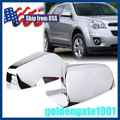 US Pair Chrome Side Mirror Cover Trims For Chevy Equinox GMC Terrain 11-16 GG