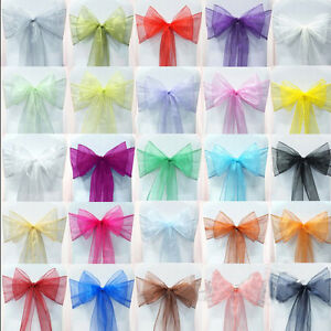 UK Wholesale Organza Sashes Chair Cover Fuller Bow Sash ...