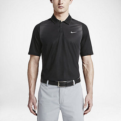 (NIKE Tiger Woods Collection Mesh Framing Dri Fit Golf Polo Shirt Size M NEW $110)