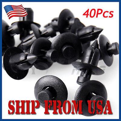 US 40Pcs 6mm Hole Retainer Liner Push Fender Bumper Clip For Honda Polaris ATV