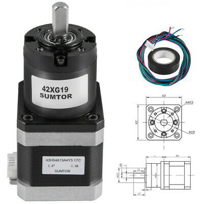Gear Nema17 1.3a 42mm Ratio 191 Planetary Gearbox Stepper Motor