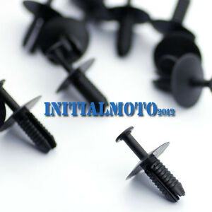20-X-Nylon-Push-Type-Door-Sill-Rivet-Retainer-Fastener-Clips-51118174185-For-BMW