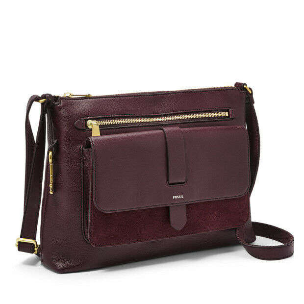 FOSSIL Kinley Fig Leather Crossbody Multi Handbag