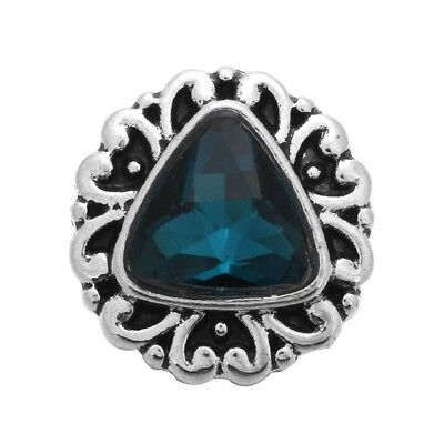 Small Snap - SMALL SNAP * TEAL BLUE STONE Snap 12mm Interchangeable Jewelry Fits Ginger Snap