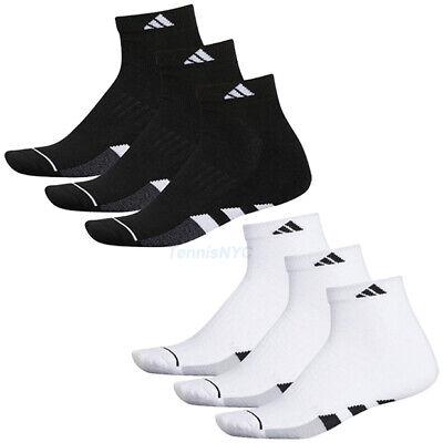 ADIDAS Cushioned 3-Pack Quarter Men's Tennis Athletic Socks Size 6-12  Cushion Tennis Quarter Socks