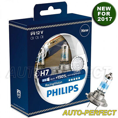 Brand New Philips Racing Vision H7 Bulbs Up To  150  Brighter