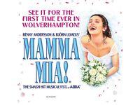 2 x Tickets for Mama Mia at the Grand Theatre, Wolverhampton