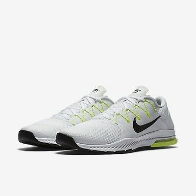 MENS NIKE ZOOM TRAIN COMPLETE TRAINING 882119-100 White/Volt REFLECTIVE SIZE 14