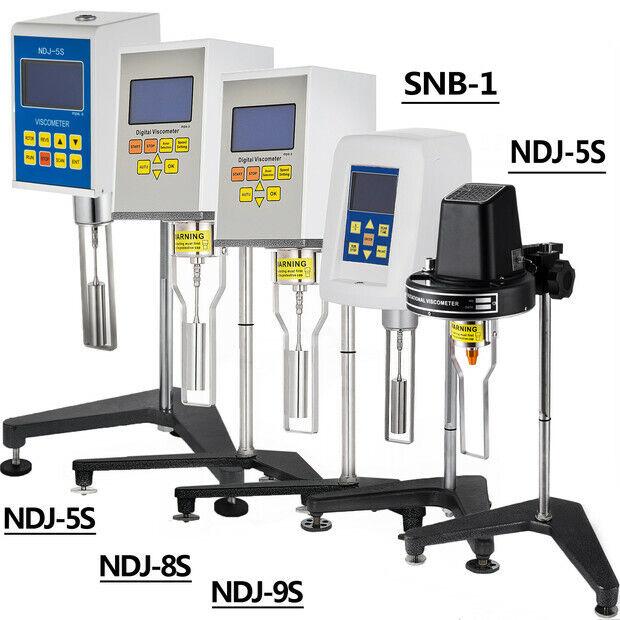 NDJ SNB Rotary Viscometer Digital Viscosity Meter 1~6000000mPa.s w/Rotor & Stand