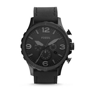 FOSSIL-Nate Chronograph Blackedout Leather Watch - $130 O.B.O