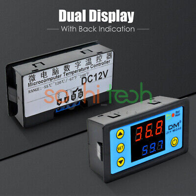 W3231 Dual Display Led Ac 110-220v Digital Microcomputer Thermostat Controller