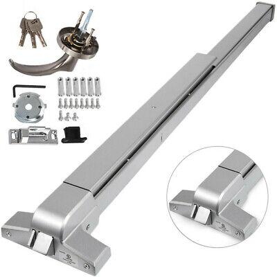 Door Push Bar Panic Exit Device Lock Handle Vertical Commercial+3x Keys